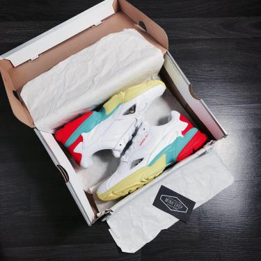 Hàng Chính Hãng Adidas Falcon White/Aqua/Red 2020**XX