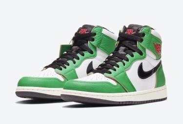 Hàng Chính Hãng Nike Air Jordan 1 Retro High Lucky Green 2020**
