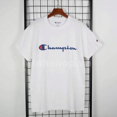 Hàng Chính Hãng Áo Thun Champion Printed Script Logo White **2020**