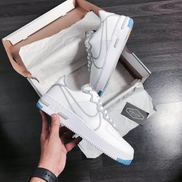 #-36% Giày Nike Air Force 1 React Light Smoke Grey V ** [CT1020 100]