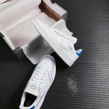 Hàng Chính Hãng Adidas Supercourt White/Blue 2021**