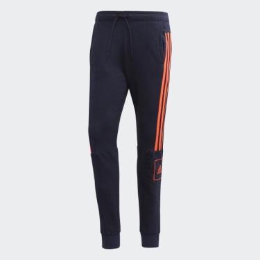 Hàng Chính Hãng Quần Jogger Adidas 3-Stripes Slim Pants Navy/Solar Red 2020**