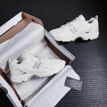 Hàng Chính Hãng NewBalance Abzorb 828 White/Grey Logo 2021**