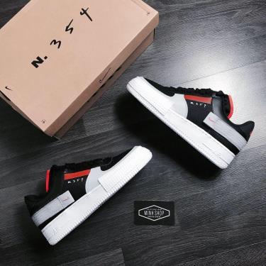 Hàng Chính Hãng Nike Air Force 1 Type Black Hyper Crimson 2020**