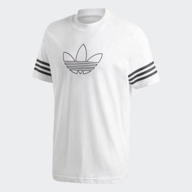 Hàng Chính Hãng Áo Thun Adidas Outline Tee  White/Black 2020**