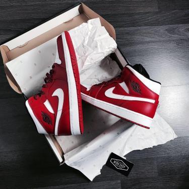 Hàng Chính Hãng Nike Air Jordan 1 Mid 'Gym Red'  2020** V