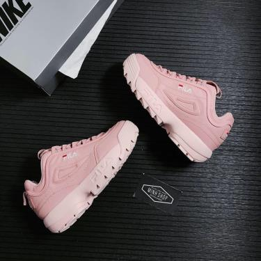 Giày Fila Disruptor II Script Pale  Pink ** [FS1HTZ3075X]