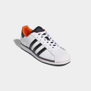 Hàng Chính Hãng Adidas Superstar  White Black Orange 2021**