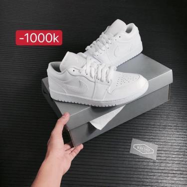Hàng Chính Hãng Nike Air Jordan 1 Low 'Triple White'  2021**