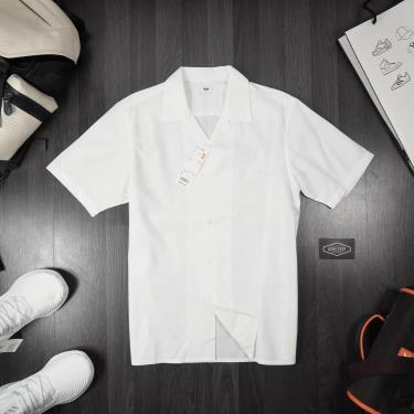 Hàng Chính Hãng Áo Sơ Mi Uniqlo Short Sleeve Shirt White 2020**
