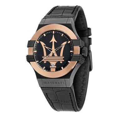 Hàng Chính Hãng Maserati Potenza Quartz Black Dial Watch 2020**
