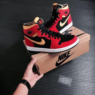 📤 NEW 📤Giày Nike Air Jordan 1 High Zoom Air CMFT Black Chile Red ** [CT0978 006]