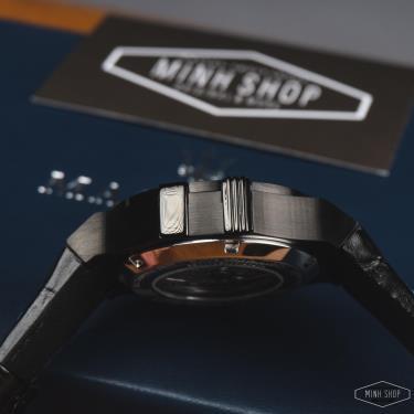 Hàng Chính Hãng Maserati Potenza Automatic Black Leather Strap Black/Blue Limited  Watch 2020**