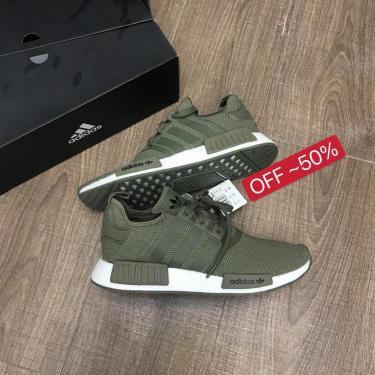 50% OFF TODAY ! Hàng Chính Hãng Adidas NMD R1 Dark Green 2021**