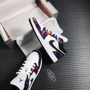 ⚡ Highest Rated ⚡ Giày Nike Jordan 1 Low Nothing But Net GS [O] ** [CZ8657 100]