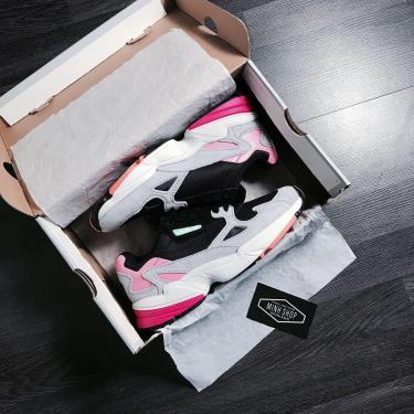 Hàng Chính Hãng Adidas Falcon Black Grey Pink **2020**