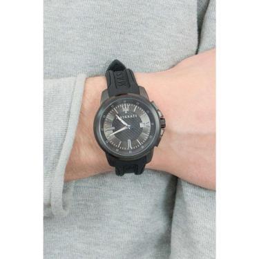 Hàng Chính Hãng Maserati Sfida Black Silver Watch 2020**