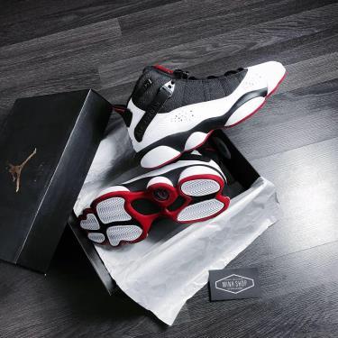 """Hàng Chính Hãng Nike Jordan 6 Rings """"Black White Gym Red"""" 2020**"""