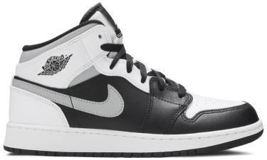 Giày Nike Air Jordan 1 Mid White Shadow GS ** [554725 073]