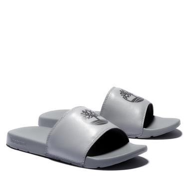 Hàng Chính Hãng Dép Timberland Playa Sands Slide Grey/Black 2021**