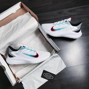 Hàng Chính Hãng Nike Air  Zoom Winflo 7 White/Blue 2020**