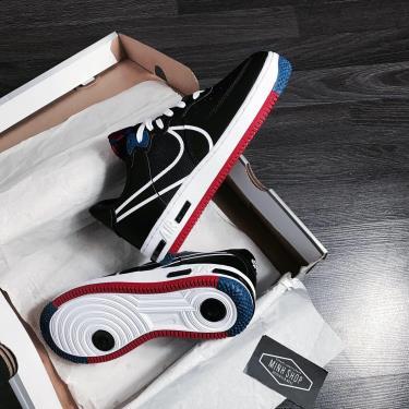 Hàng Chính Hãng Nike Air Force 1 React Black/Gym Red/Blue 2021** V