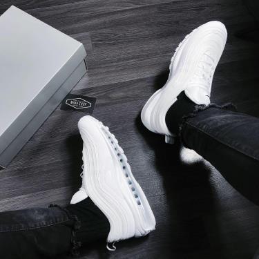Hàng Chính Hãng Nike Nike Air Max 97 all white x 2020**