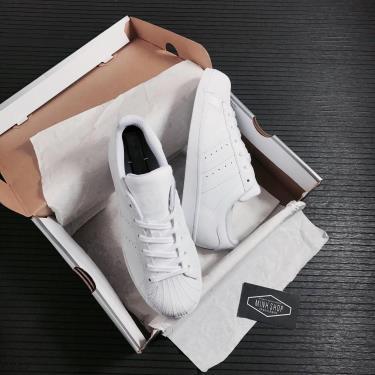 Hàng Chính Hãng Adidas Super Star All White J  2021**