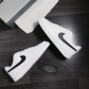 Hàng Chính Hãng Nike Court Vision Low White/Black LOGO 2021**