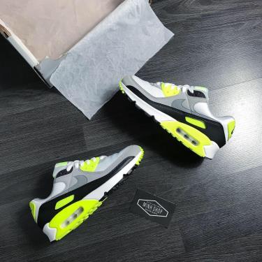 Hàng Chính Hãng Nike Air Max 90 Black/Grey/Lime 2019**