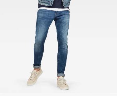 Hàng Chính Hãng Quần Jeans G-Star Raw Revend Skinny Blue 2020**