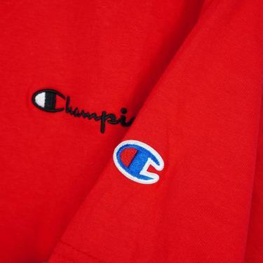 Hàng Chính Hãng Áo Thun Champion Embroidered Script Logo Red 2020**