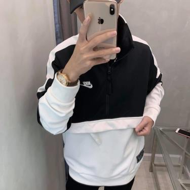 Hàng Chính Hãng Áo Khoác Nike Air Jacket Half-Zip Black/White 2021**
