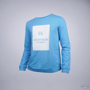 Hàng Chính Hãng Áo Sweatshirt Calvin Klein Performance Blue 2021**
