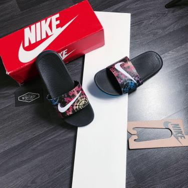 Hàng Chính Hãng Dép Nike Kawa Slide  Laser Fuchsia Black  2020**