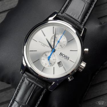 Hàng Chính Hãng Hugo Boss Jet Black Dial Leather Strap  Watch 2021** 1513282