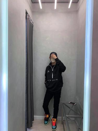 Hàng Chính Hãng Áo Khoác Nike Air Jacket Half-Zip Black 2021**