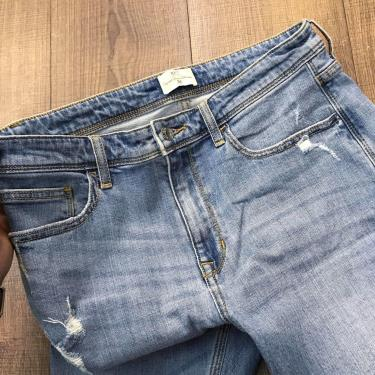 Hàng Chính Hãng Quần Jeans NET Ripped Light Blue 2021**