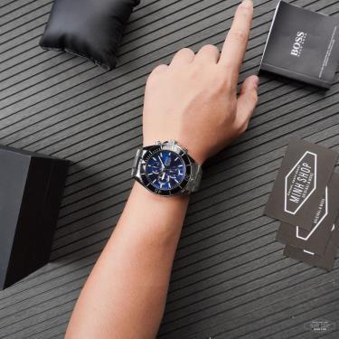Hàng Chính Hãng Hugo Boss Chronograph Vela Blue/Silve/Black  Watch 2021**