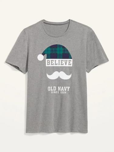 Hàng Chính Hãng Áo Thun Old Navy Christmas Believe Grey 2020**