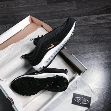 Hàng Chính Hãng Nike Air Max 97 Black/Gold Logo 2020**