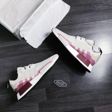OFF50% Hàng Chính Hãng Adidas NMD R1 Primeknit Raw White/Collegiate Burgundy 2020** 1 ĐÔI CUỐI