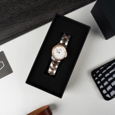 Hàng Chính Hãng DW Iconic Link Lumine Rose Gold / Silver White Watch 2020**