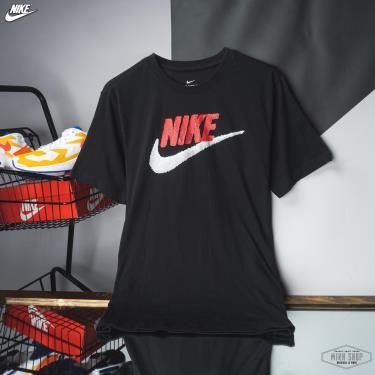 Hàng Chính Hãng Áo Thun Nike Tee Brand Mark  Black/Red White LOGO 2020**