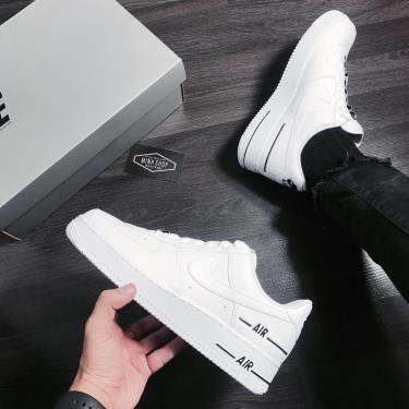 Hàng Chính Hãng Nike Air Force 1 Low Double Air White/Black 2020**