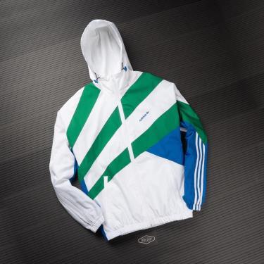 Hàng Chính Hãng Áo Khoác Jacket Adidas White/Green/Blue 2021**