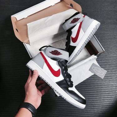 Giày Nike Jordan 1 Hi Flyease Black Particle Grey Gym Red V ** [CQ3835 002]