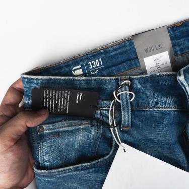 Hàng Chính Hãng Quần Jeans G-Star Raw  3301 Slim Worn In Azure  2020**