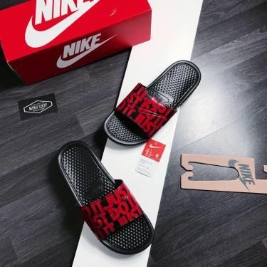 Hàng Chính Hãng Dép Nike Benassi JDI Print Black Red 2020**