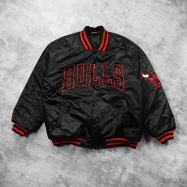 Hàng Chính Hãng Áo Khoác Bomber Jacket NBA Chicago Bulls Black Red LIMITED  2021**